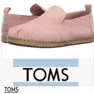 Toms pink loafers